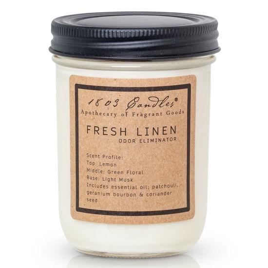 Fresh Linen Jar by 1803 Candles