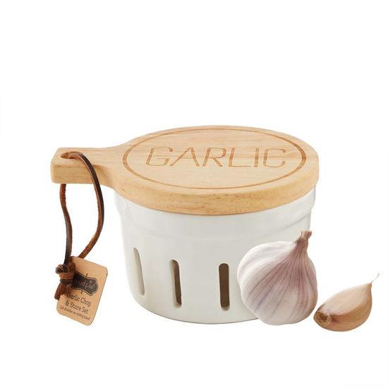 Garlic Chop & Store Set by Mudpie