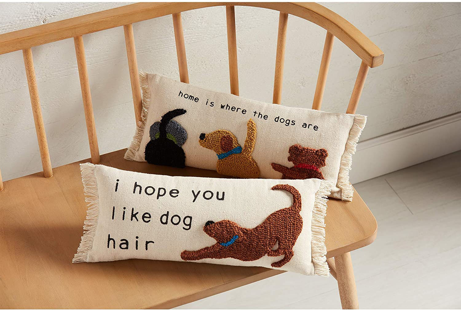 Home Is Where The Dogs Are Pillow by Mudpie