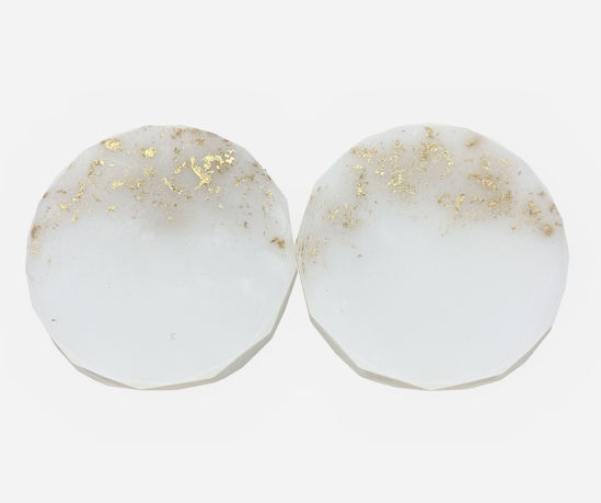Gold Sided White Coaster Set by Spirited Pyramids