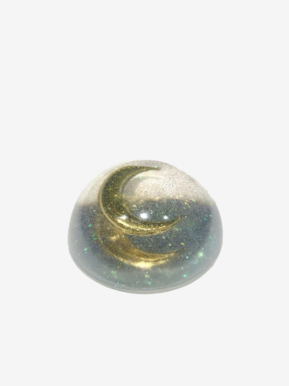 Gold Moon & Glitter Paperweight by Spirited Pyramids