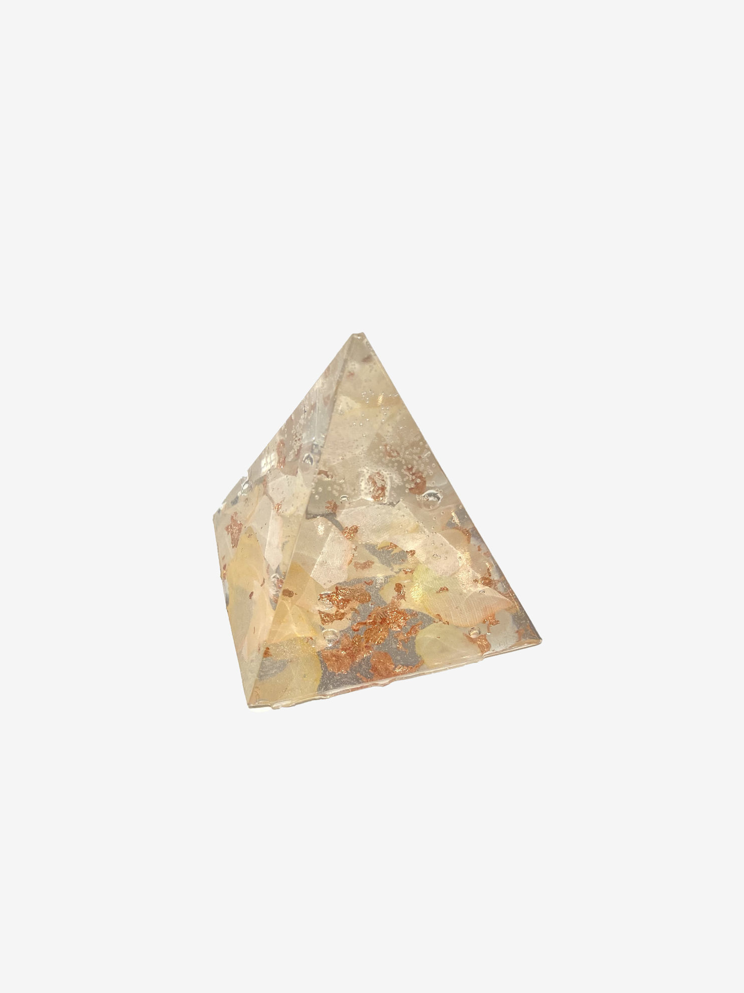 White & Rose Gold Extra Small Pyramid by Spirited Pyramids
