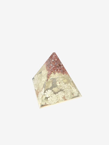 Baby's Breath and Rose Gold Extra Small Pyramid by Spirited Pyramids
