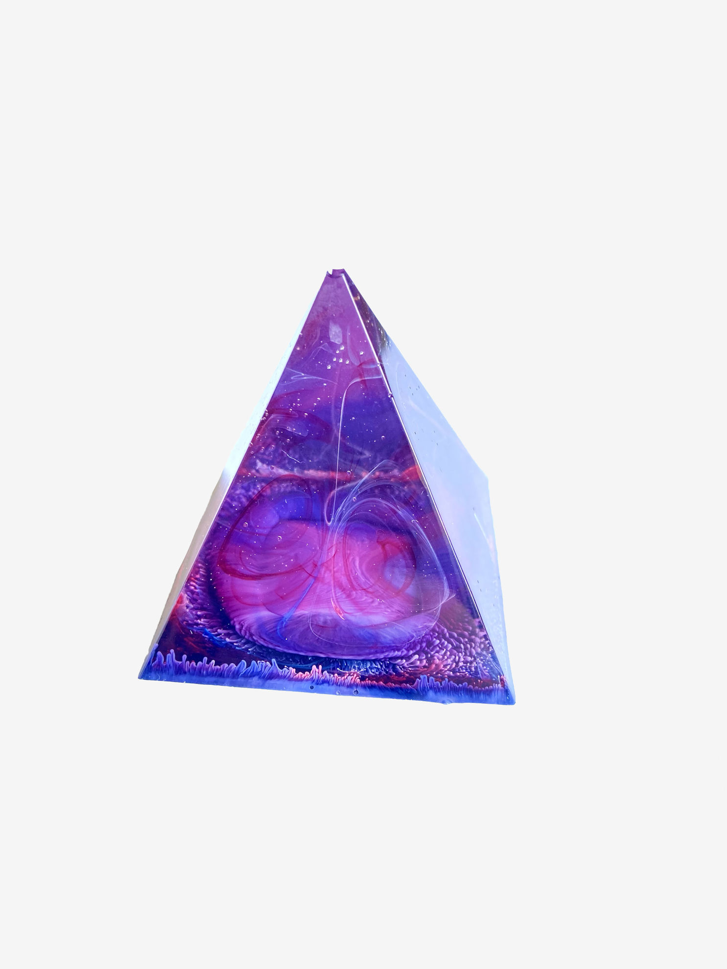 Galaxy Swirl Extra Small Pyramid by Spirited Pyramids