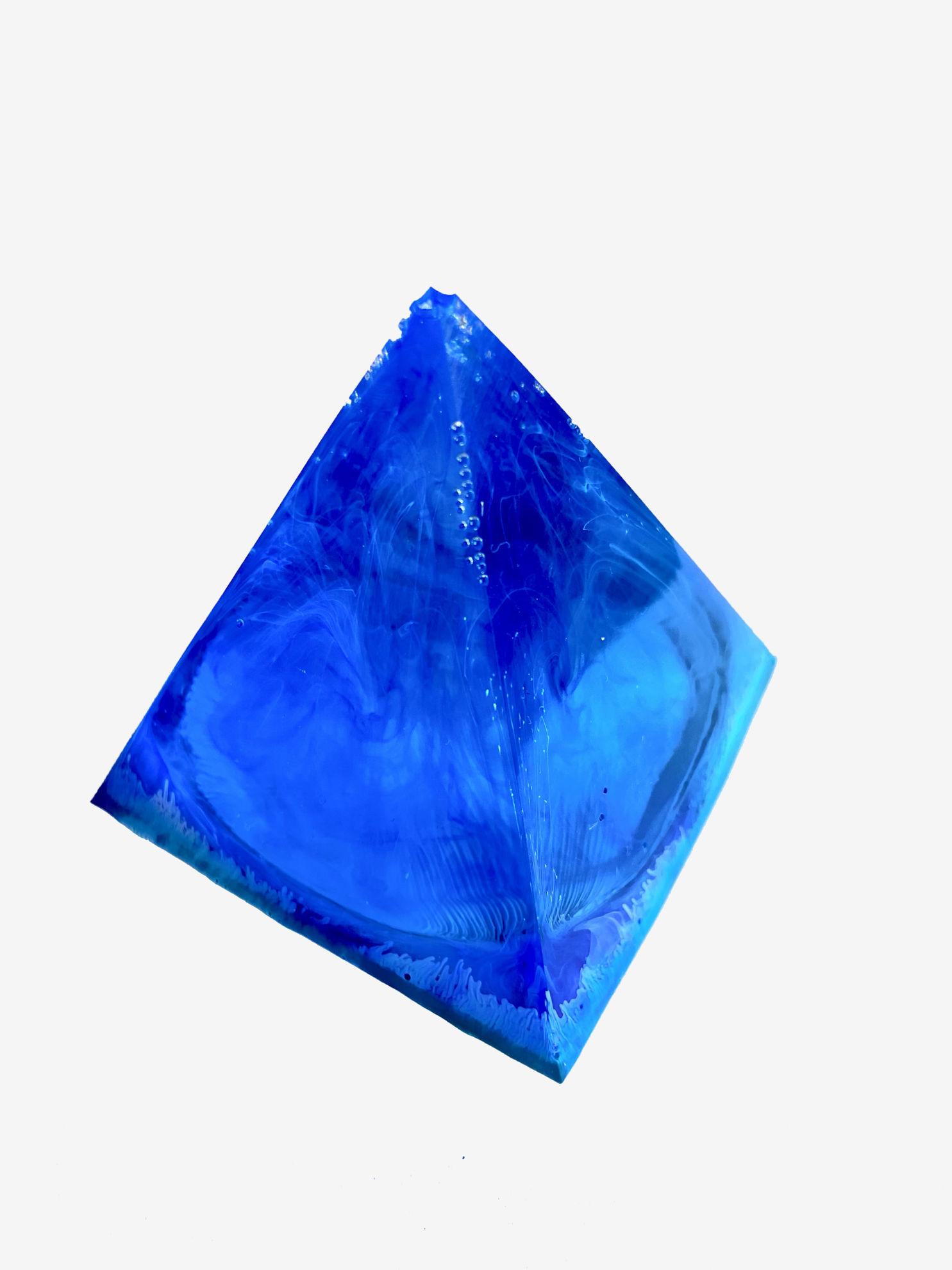 Blue Swirl Small Pyramid by Spirited Pyramids