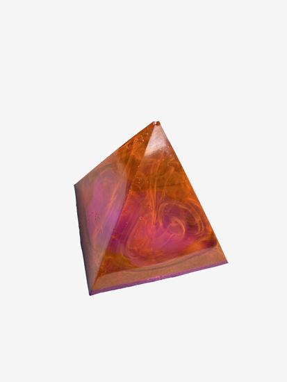 Pink, Orange, and Purple Small Pyramid by Spirited Pyramids