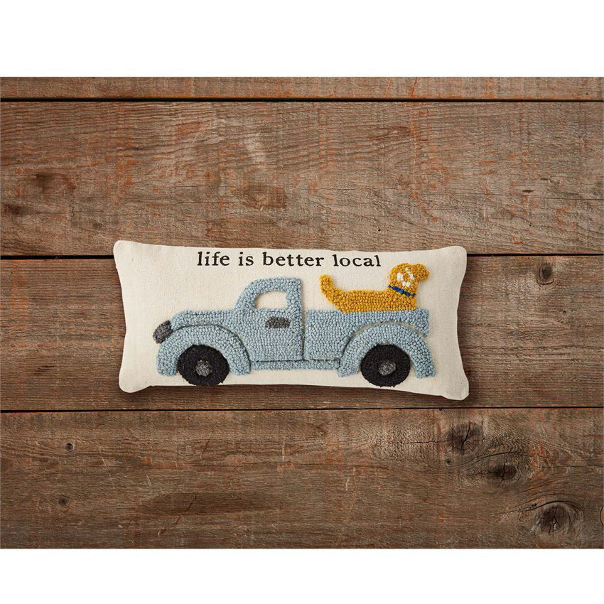 Life is Better Local Hooked Pillow by Mudpie