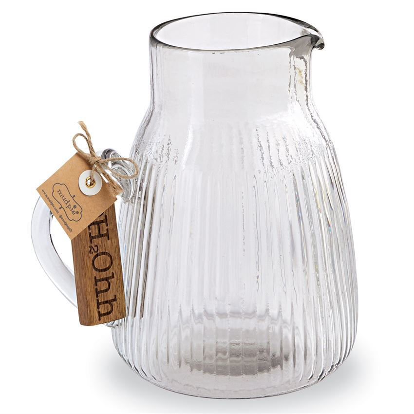 H20 Glass Pitcher Set by Mudpie