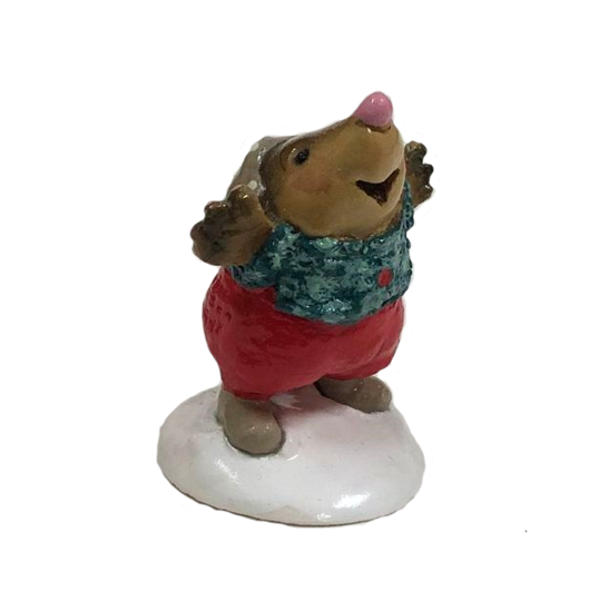 Mole's First Snow MO-04a (Red) by Wee Forest Folk®