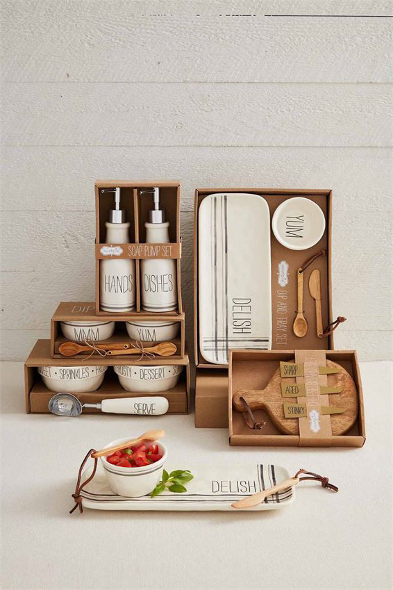 Paddle Board Cheese Set by Mudpie