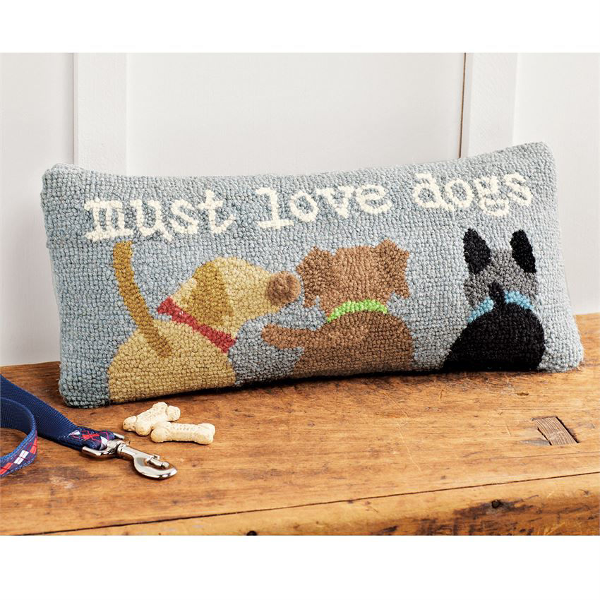 Must Love Dogs Pillow by Mudpie