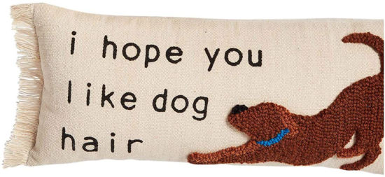 I Hope You Like Dog Hair Pillow by Mudpie