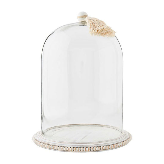Large Cloche with Beaded Base by Mudpie