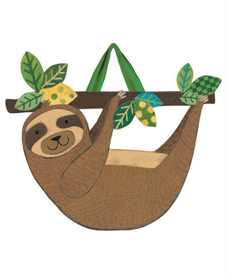 Happy Sloth Door Decor by Studio M