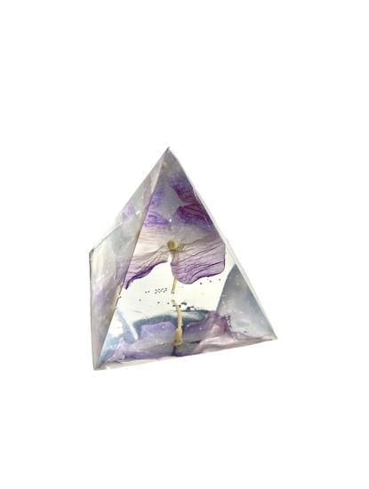 Purple Flower Small Pyramid by Spirited Pyramids
