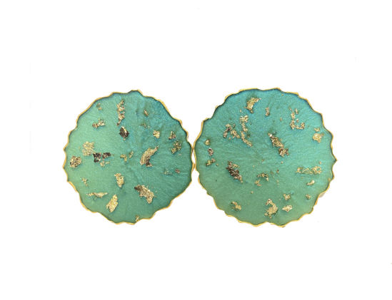 Emerald and Gold Coaster Set by Spirited Pyramids