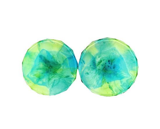 Green and Blue Watercolor Coaster Set by Spirited Pyramids