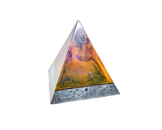 Orange & Purple Swirl Extra Small Pyramid by Spirited Pyramids