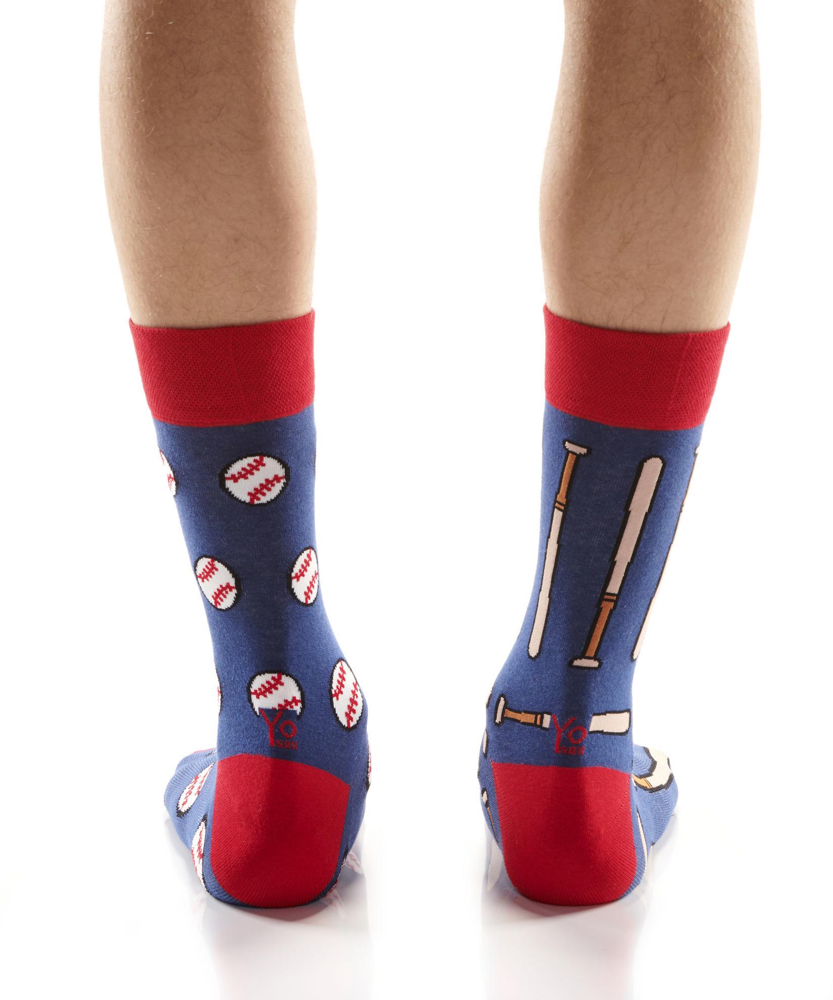 Balls & Bats Men's Crew Socks by Yo Sox