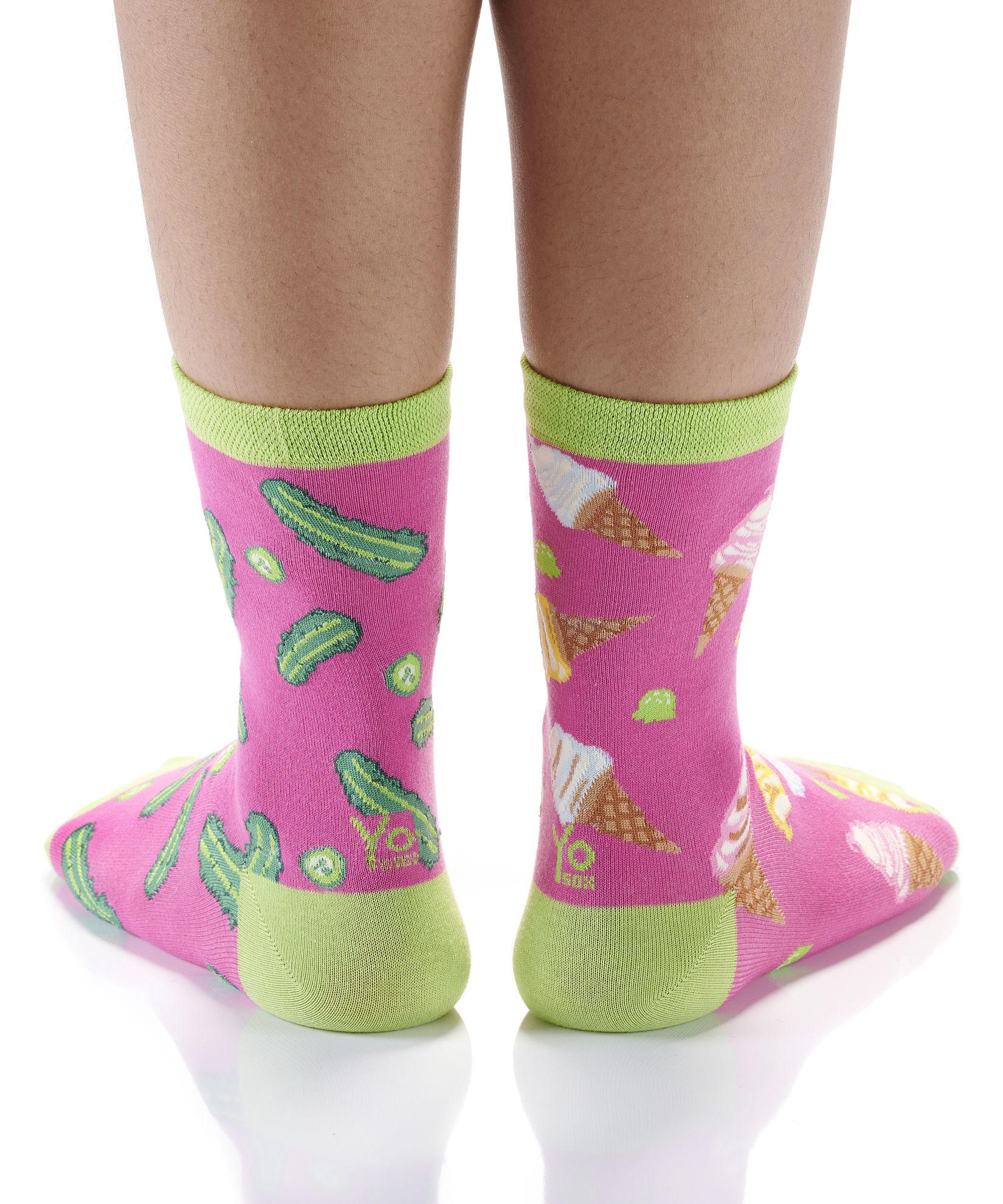 Pickle & Ice Cream Women's Crew Socks by Yo Sox