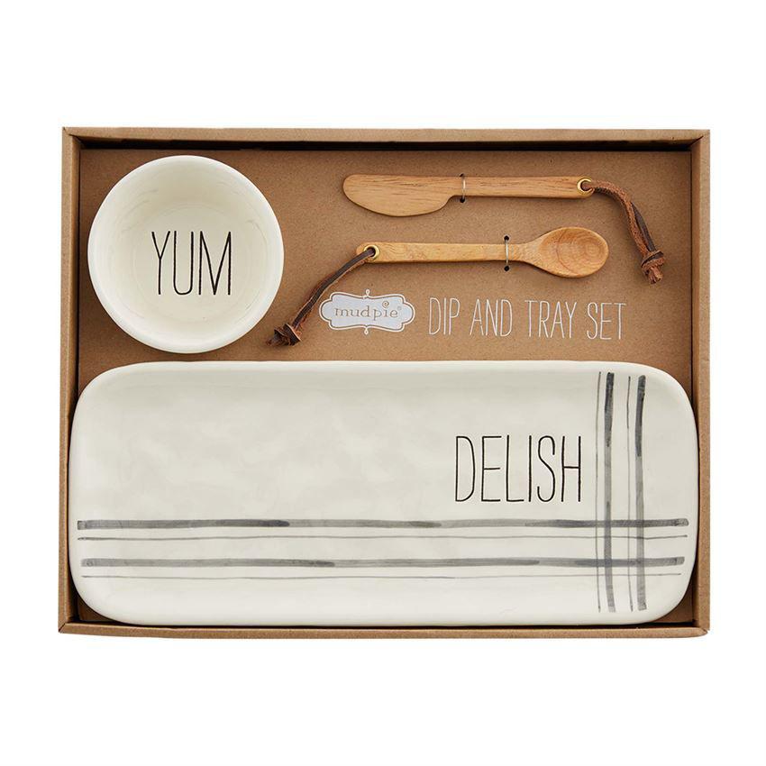Delish Tray & Dip Set by Mudpie