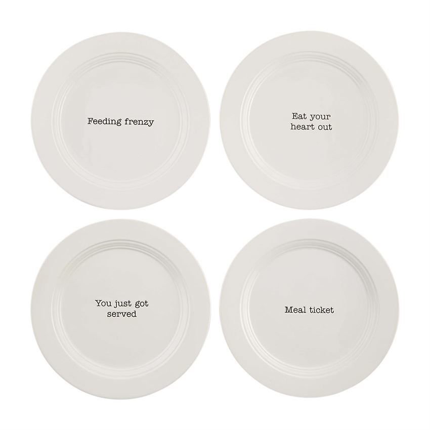 Table For 4 Appetizer Plate by Mudpie