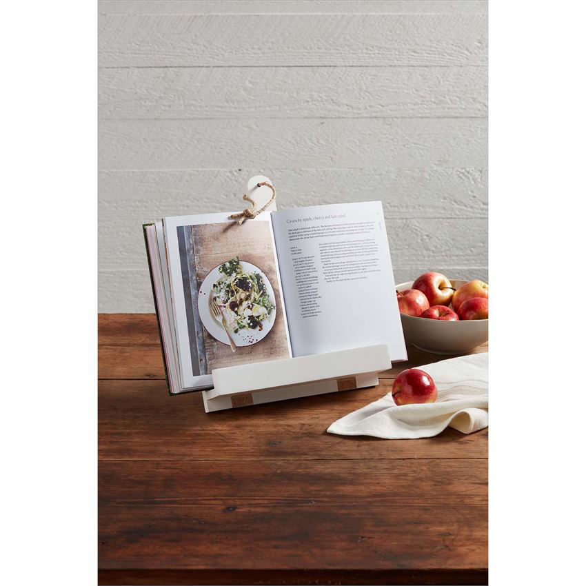 White Paddle Cookbook Holder by Mudpie