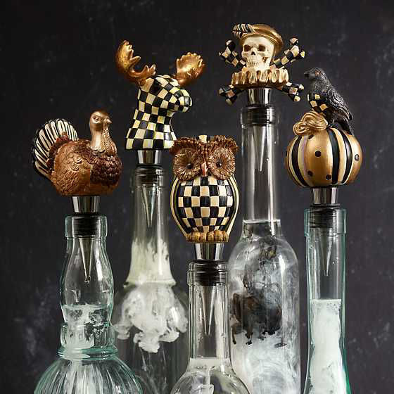 Courtly Check Moose Bottle Stopper by MacKenzie-Childs