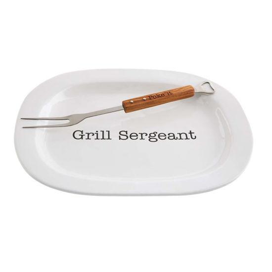 Grill Sergeant Platter Set by Mudpie