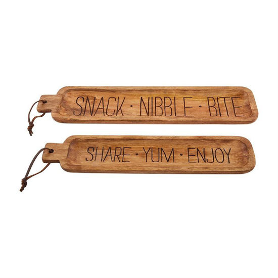 Nested Wooden Tray Set by Mudpie