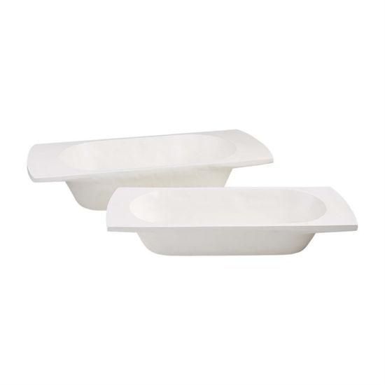 White Dough Bowl Set by Mudpie