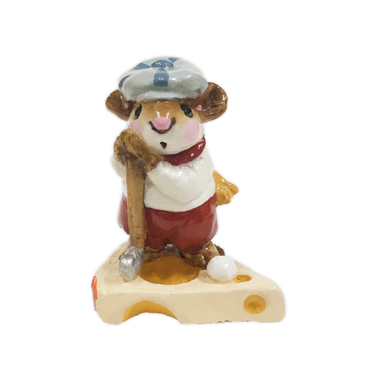 Golfer Mouse MS-10 (White Shirt) by Wee Forest Folk®
