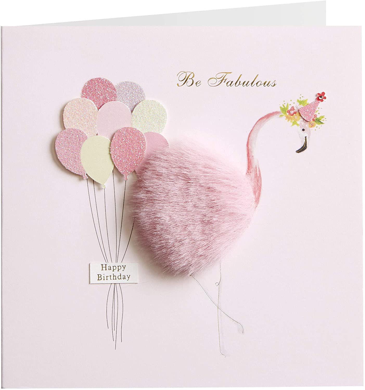 Flamingo Birthday Card by Niquea.D