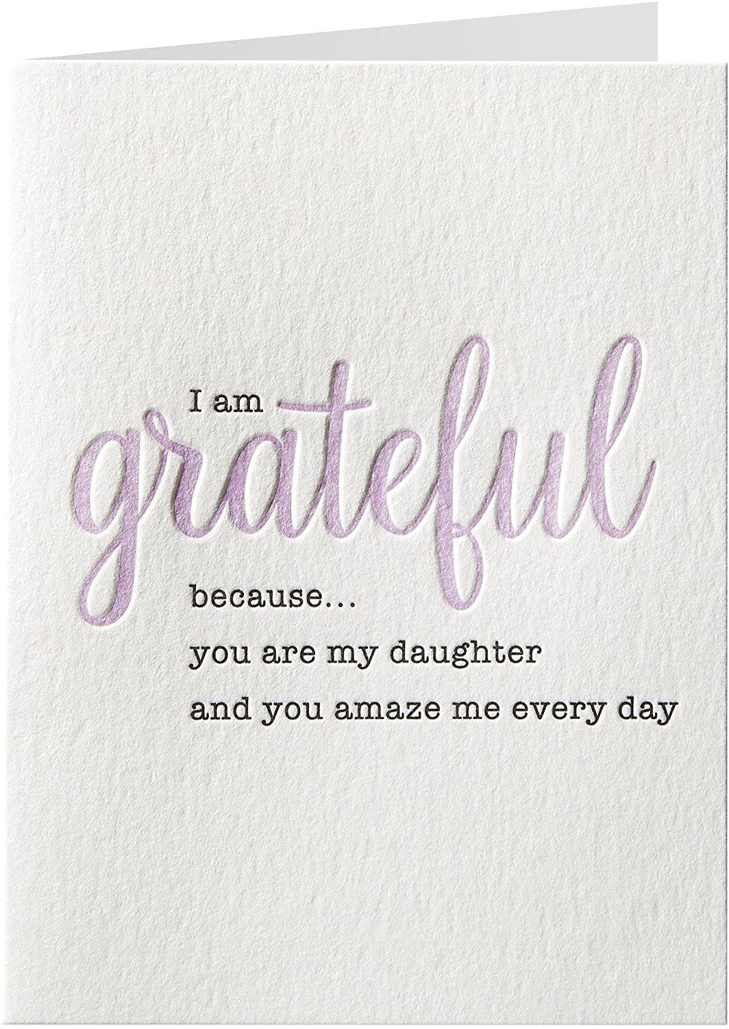 Grateful Daughter Birthday Card by Niquea.D