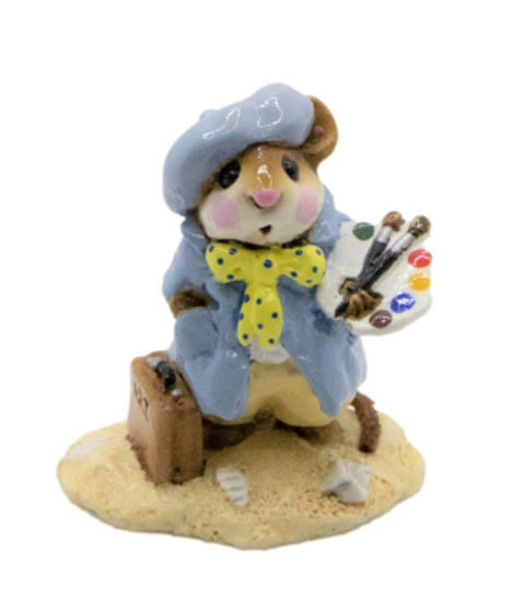 Arty Mouse M-071 (Blue) By Wee Forest Folk®