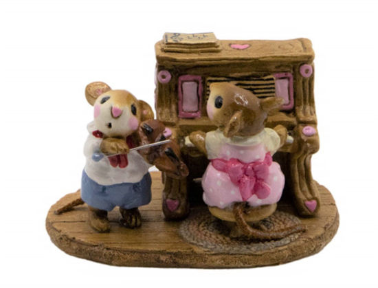 Mouse Duet M-029 (Pink) By Wee Forest Folk®