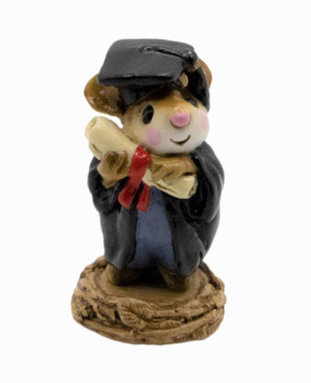 Graduate Mouse M-058 (Black) by Wee Forest Folk®