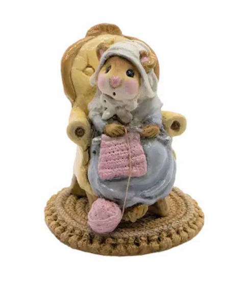 Pearl Knit Mouse M-059 (Blue) by Wee Forest Folk®