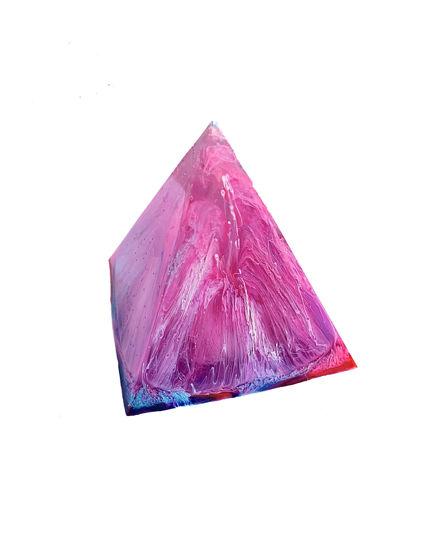 Pink and Cyan Small Pyramid by Spirited Pyramids