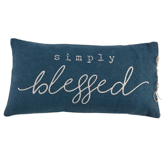 Simply Blessed Pillow by Mudpie