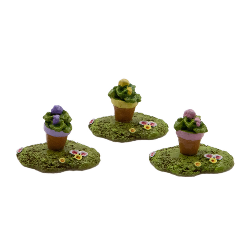 Tiny Flower Pot 015 by Wee Forest Folk
