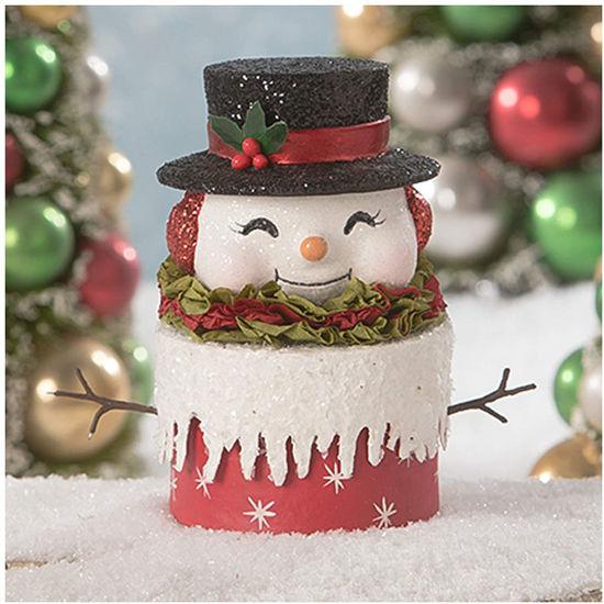 Happy Retro Snowman Box by Bethany Lowe