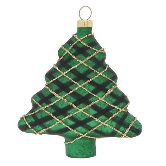 Plaid Tree Ornament by Kat + Annie