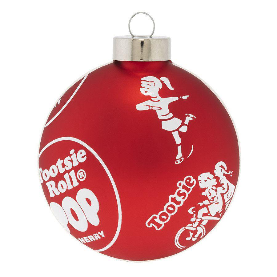 Cherry Tootsie Roll Pop Disc Ornament by Kat + Annie