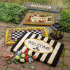 Awning Stripe Welcome Mat by MacKenzie-Childs