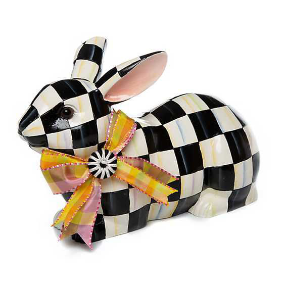Courtly Check Resting Bunny by MacKenzie-Childs