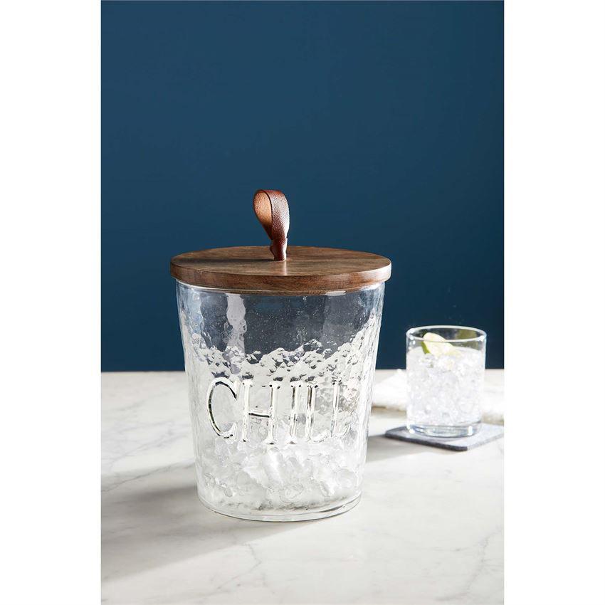 Textured Glass Ice Bucket by Mudpie
