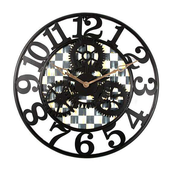 Courtly Check Farmhouse Wall Clock - Small by MacKenzie-Childs