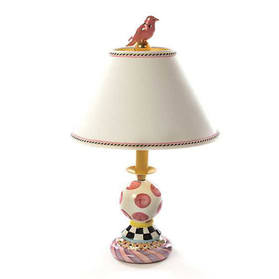 Super Pink Bulbous Lamp by MacKenzie-Childs