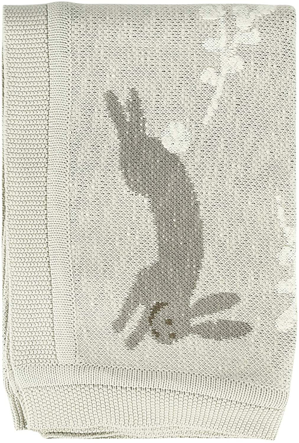 Baby Blanket w/Bunny  by Creative Co-op